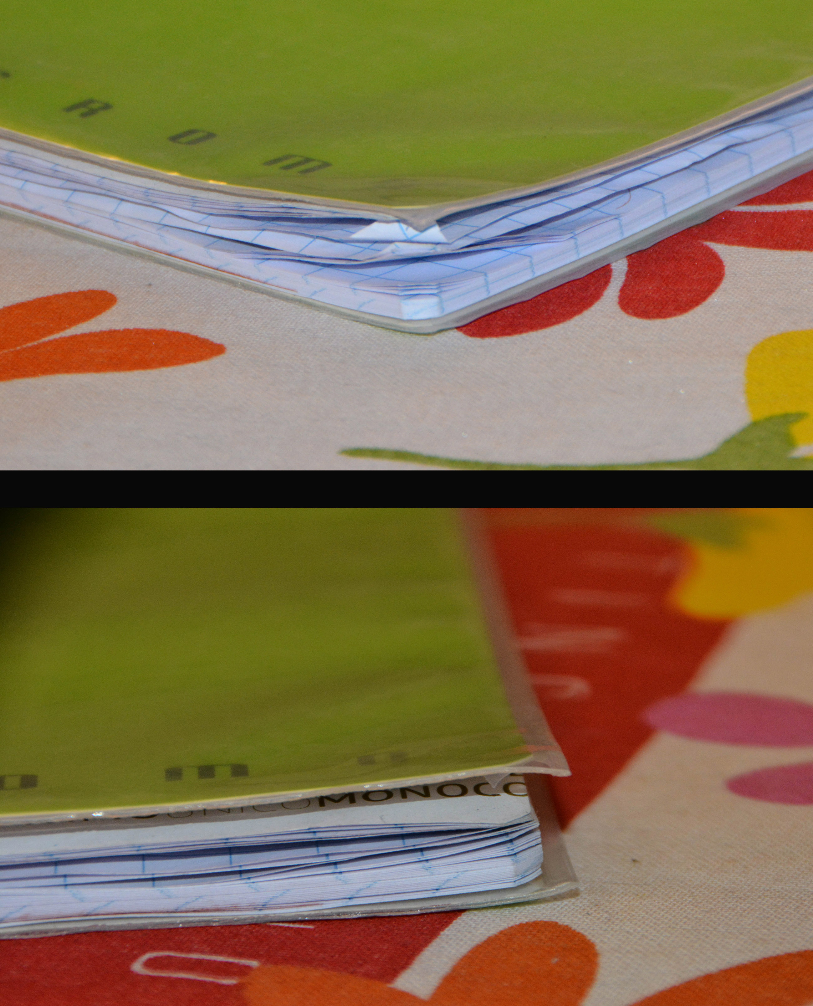 How to get rid of unpleasant dog-ears on exercise books