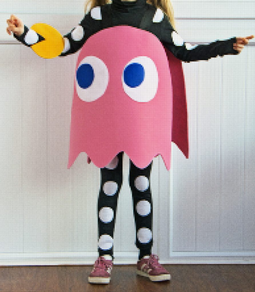 DIY Pinky (the pink ghost) from Pac-Man costume