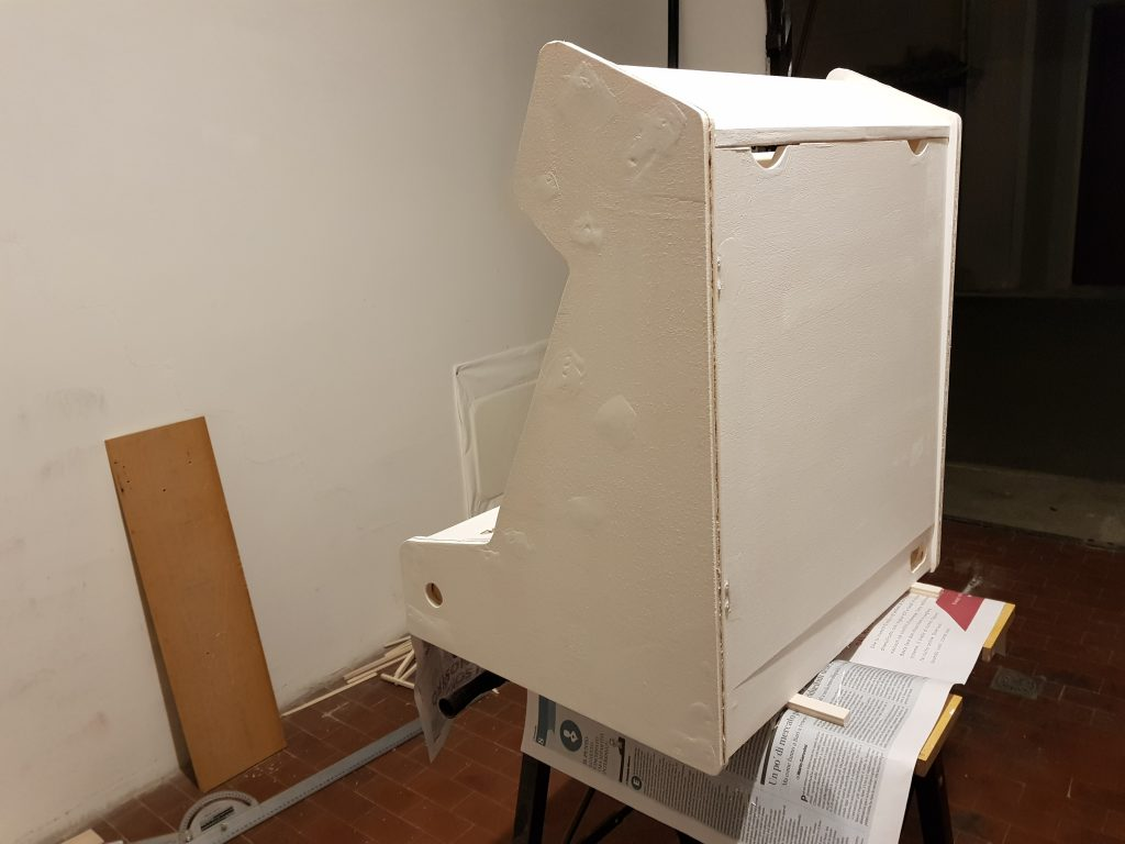 Arcade Bartop with Raspberry Pi & RetroPie DIY tutorial (with pictures) - Part 4 of 6 - Painting and T-Molding
